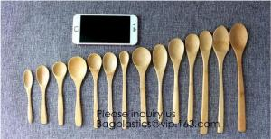 China Disposable Catering Natural Knife, Fork And Spoon Bamboo Spoon,Reusable Eco Friendly Biodegradable Bamboo Cutlery Caddy on sale
