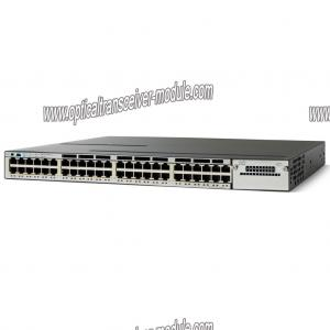 China Commutateur de réseau à fibres optiques entièrement contrôlé CISCO adapté aux besoins du client WS-C3750X-48P-L on sale