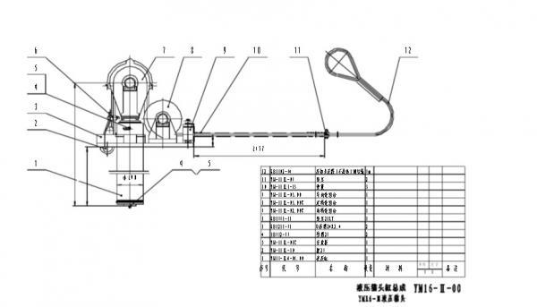 China BOMCO drilling rig YM-16II Baojie Hydraulic Cathead to