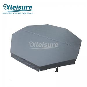 China Durable Octagon Inflatable Spa Cover Thermal  Inflatable Hot Tub Lid  Dark Grey Color on sale