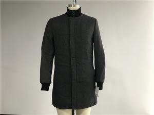 China Menswear Charcoal Metlon Coat With Funnel Rib Collar XS-XXXL Size TW79364 on sale