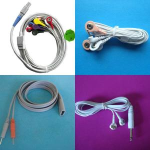 China conductive lead wire,tens medical electrode cable,electrode pad lead wire for massager on sale