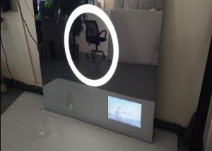 Quality Illuminated Bathroom Mirror Television , 22 Inch Polished Dielectric Mirror Tv for sale