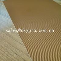 China Abrasion Resistant Natural Crepe Shoe Sole Rubber Sheet Corrugated Pattern on sale