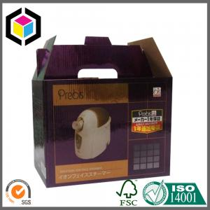 China Gable Top Corrugated Packaging Box; Handled Color Print Corrugated Paper Box on sale