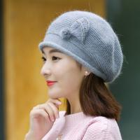 2018 Winter Trendy ladies woollen knitted hats with MOQ only need 3 pcs,elegant design hats