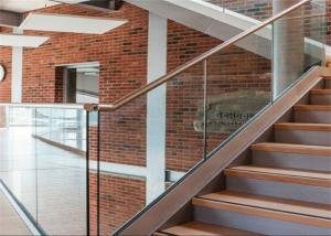 China Indoor Stair Frameless Glass Railing U Channel Aluminium Alloy Material on sale