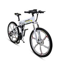 Mountain Folding Electric Bicycle 26 Inches 250 W Double Shock Absorption