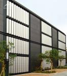 Residential Curtain Wall Louvers Remote Manual Control PVDF Coating Durable