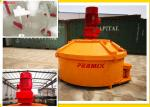 Orange Alloy Plates Planetary Concrete Mixer Environmental Protection 180kgs