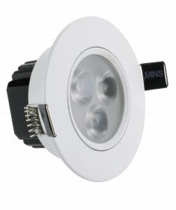 China 50 - 60HZ Recessed Led Ceiling Lights 3w Epistar Chip , High Efficiency Long Life on sale