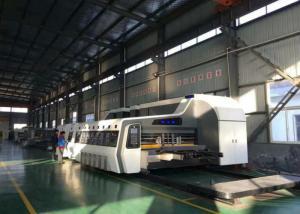 China High Definition Flexo Printer Slotter Machine 180 Pcs/Min With Pneumatic Interlocking Device on sale
