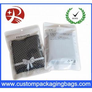 China Customized Underwear Plastic Zip Bags For Clothing Packaging , Convenient Use on sale