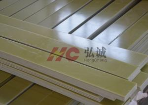 China Yellow Fr 4 G10 Laminate Sheet / G10 Plastic Sheet Excellent Heat Resistance on sale