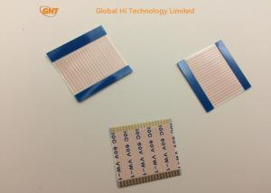 China Gold Plating 1 mm Ribbon Cable / Same Side Flexible Power Cable Customized on sale