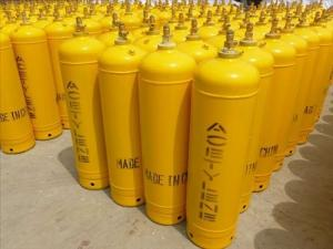 China 3l - 40l Industrial Gas Cylinders , Seamless 34CrMo4 Steel Acetylene Gas Tank on sale