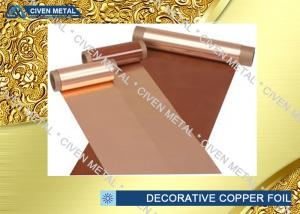 China Flexible Copper Decorative Copper Foil Radiator Fins C1100 C1220 C1020 on sale