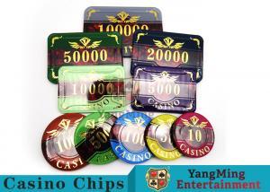 China 760 Pcs ABS Plastic Poker Card Sets , Casino Dedicated Custom Poker Set on sale