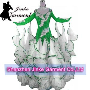 China New tailored made silk Standard competition Women ' s ballroom dresses on sale