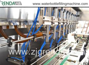 China Automatic Oil Filling Machines , 1L 2L 5L Capacity Commercial Liquid Filler Machine on sale