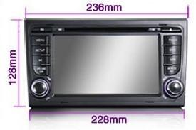 China Android 4.0 Digital Audi A4 In Car DVD Player Support IPOD CLASSIC / IPOD NANO / IPOD TOUCH on sale