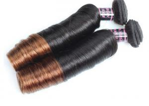 China 14 - 16 Inch Ombre Indian Human Hair Weave No Shedding No Foul Odor on sale