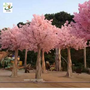 China UVG CHR128 faux blossoms japanese cherry trees for wedding stage decoration various size on sale