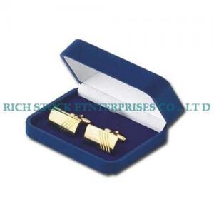 China Velvet jewelry box,velvet cufflink box,velvet cufflink case on sale