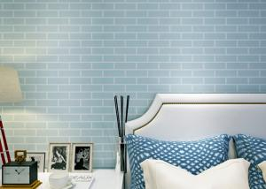 Blue Pre Pasted Self Adhesive Wall Covering Non Woven 3d
