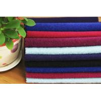 Plain Brushed Wool Polyster Blended Winter Coat Fabric Touch Well