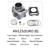 China Suzuki Motorcycle Cylinder Block Kit 52mm Bore Diameter With Customized Logo on sale