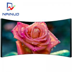 China Arc Shaped 4k Video Wall , Digital Video Wall Flexible Structure Design on sale