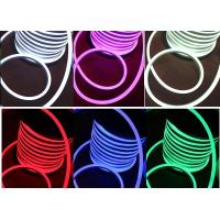 China PVC LED RGB LED Neon Flex Multi Color Changing 110V AC Input Voltage on sale