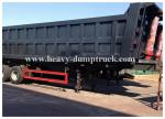 China 3 axles side dumper trailer / hydraulic tipper trailer in Algeria 100 tons Capacity wholesale