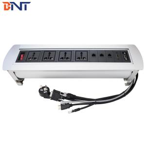 China Black  Matt Top Panel  Tabletop Pop Up Power Data Outlet For  Hotel Room on sale