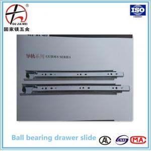 China 45mm Full extension soft closing ball bearing drawer slide,soft close slide,telescopic channel on sale