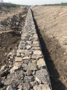 China Flexibility Gabion Retaining Wall , Hexagonal Gabion Wall Cages For Stones on sale