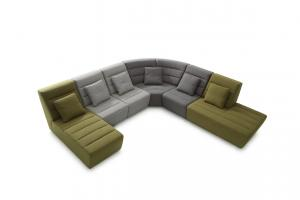 Quality Fabric Hotel Lobby Sofas Modern Elegant With Different Color Combination , high backrest sofa sets for sale