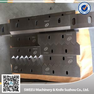 OEM 9CrS Plastic Shredder Blades Granulator Knives High Intensity