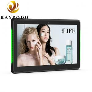 China Raypodo 10.1   1280 * 800 Resolution Android POE Touch Screen Monitor With LED Light Bar Indoor Using on sale