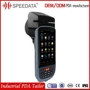 China 4.5 inch Touch Screen android Programmable Mobile Data Terminal Pda Printer with 1Gb Ram on sale