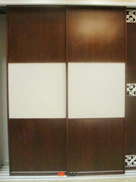 Glass Effect MDF / PVC Film Plastic Sliding Door With Transfer Printing  Images