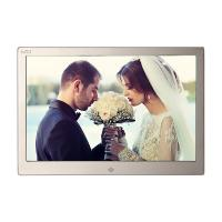 Golden HD Digital Photo Frame With Remote Control / 12.3 Inch Led Digital Photo Album