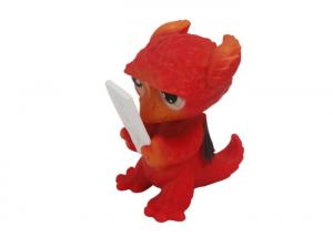 China Pretty Plastic Childrens Dinosaur Toys Non - Toxic Pale Red For Education on sale