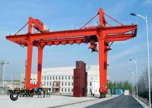 China Safety Container Gantry Crane , Rail Mounted Gantry Crane Low Energy Consumption on sale