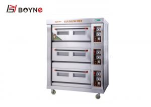 China 3 deck 6 trays gas bakery oven price/commercial bakery ovens for sale on sale