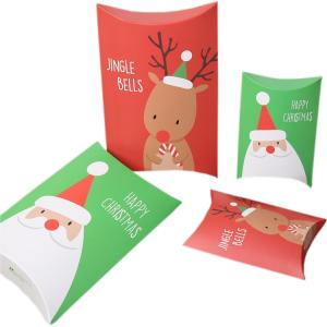 China Christmas Gift Pillow Custom Retail Packaging Boxes 350gsm Art Paper Material on sale