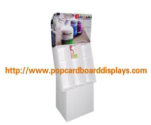 China Store Retail Gift Card Paper Cardboard Floor Displays For Wine , Enviromental on sale