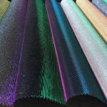 Bedroom Decorative Glitter Leather Fabric PU PET Polyester Material