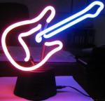 lámpara de neón Guitarra-formada